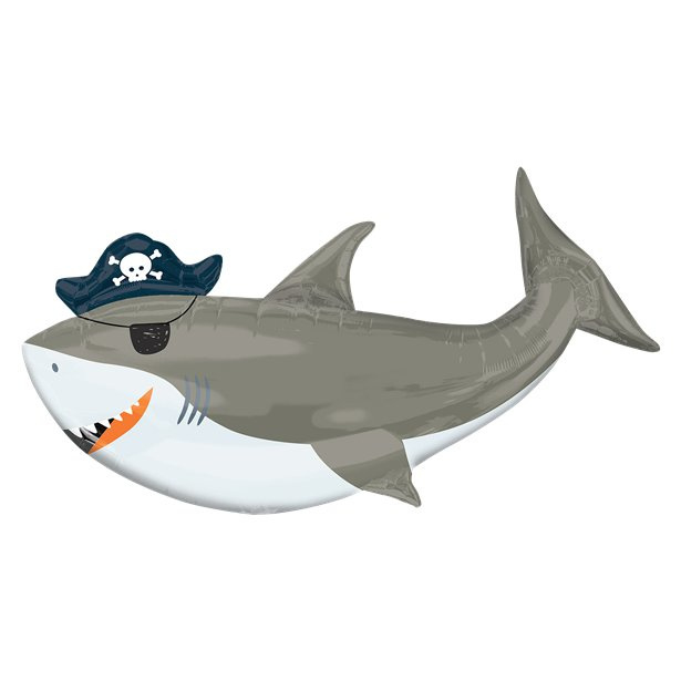 Piraat AHOY folie ballon haai XXL
