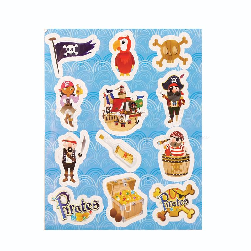Piraten stickertjes