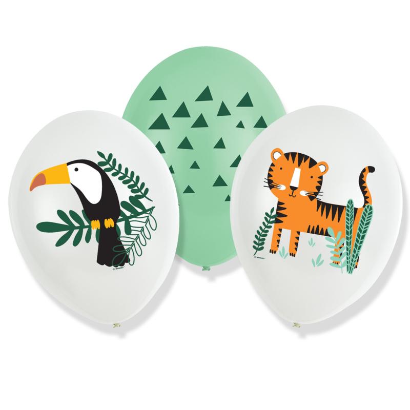 Jungle Get Wild ballonnen - set van 6