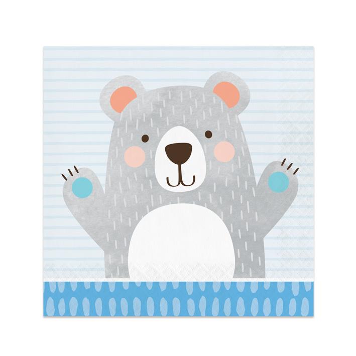 Servetjes Birthday Bear