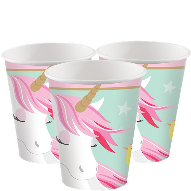 Unicorn drinkbekertjes - 8 stuks