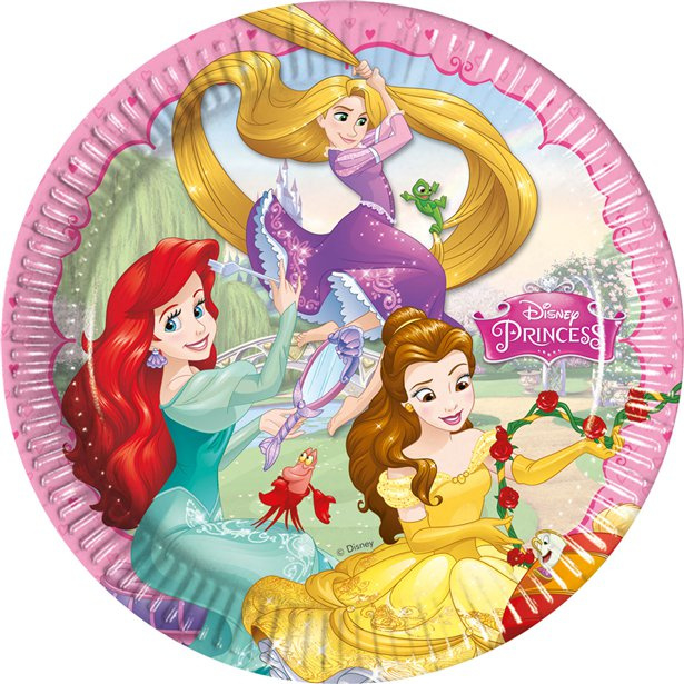 Disney prinses bordjes 23 cm