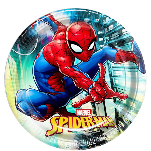 Spiderman wegwerp bordjes 23