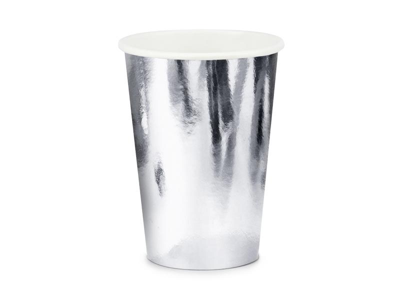 Bekertjes zilverkleurig - 6 stuks
