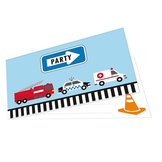 On the Road uitnodigingskaartjes