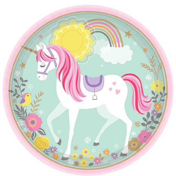 Unicorn bordjes 23 cm