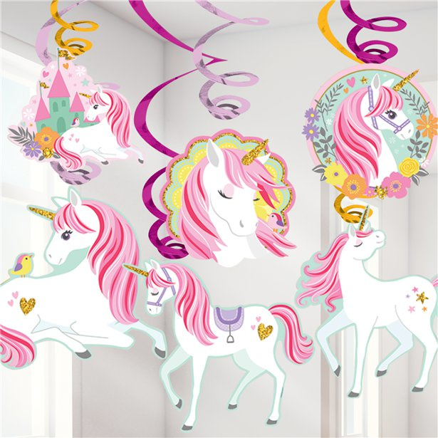 Unicorn swirl decoratie