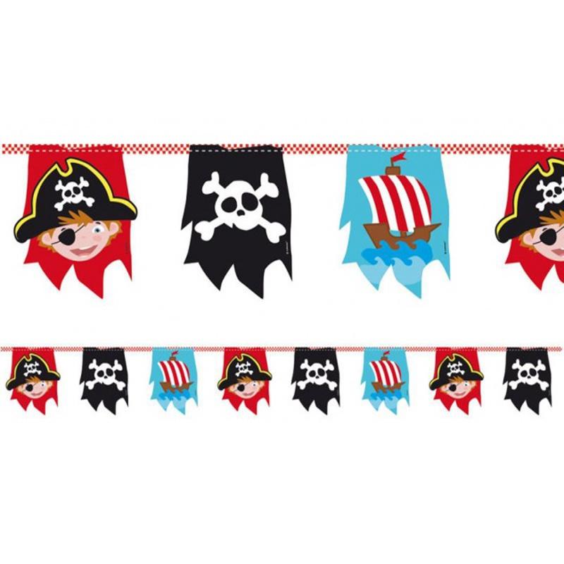 Piraten vlaggenlijn  4 meter