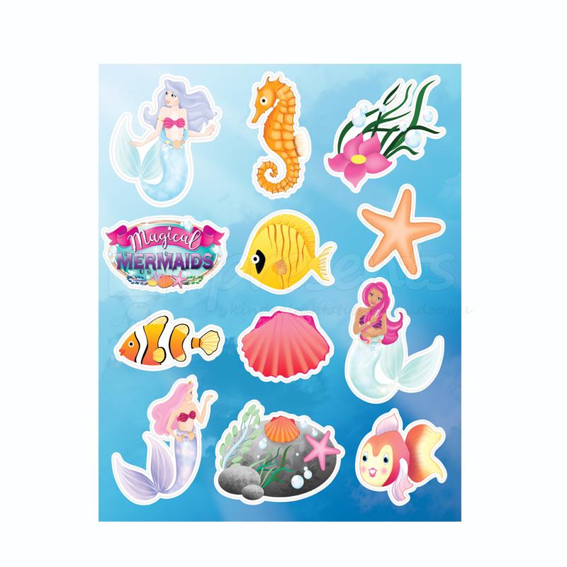 Zeemeermin / Magical  Mermaid stickervel