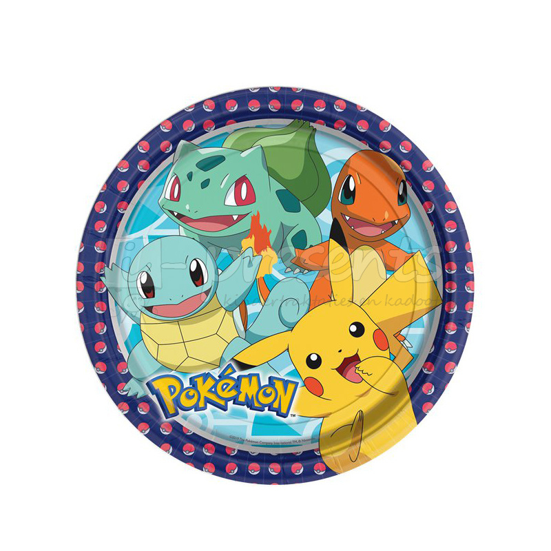 Pokemon bordjes  23 cm - 8 stuks