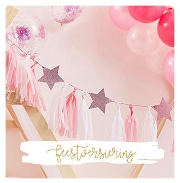 feestversiering i presents traktaties decoratie feest kinderfeest ballon uitdeelcadeautjes versiering
