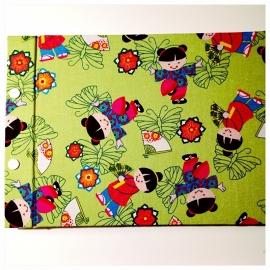 Kiekeboek Asian Kimono kids Green