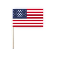 Zwaaivlaggetjes USA - papier