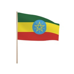 Zwaaivlaggetjes ETHIOPIE