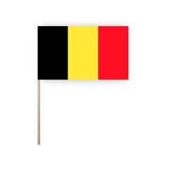 Zwaaivlaggetjes BELGIE - papier