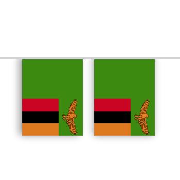 Vlaggenlijn ZAMBIA stof