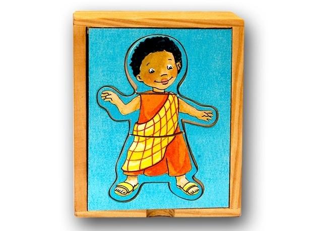 Mini puzzel Kinderen vd wereld