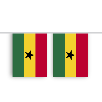 Vlaggenlijn GHANA stof