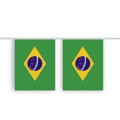 Vlaggenlijn BRAZILIE stof