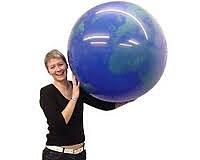 Reuzenballon Wereldbol