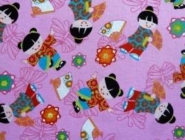 Kiekeboek Asian Kimono kids Pink