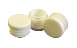Insert cap, flat head, round tubes, 16mm, white