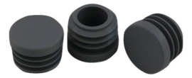 Inslagdop, platkop, rond, 16mm, grijs (RAL 7040)