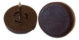 Glijnagel kunststof, 25mm, bruin