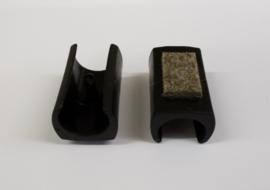 Zelfklemmende sleebuisdop 22-25mm MET VILT Zwart