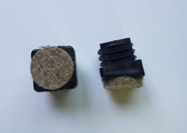 Inslagdop vierkant, 10° schuin, met vilt, 20x20mm