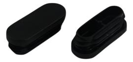 Inslagdop, platkop, ovaal, 30x15mm