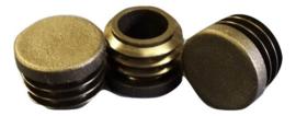 Insert cap, flat head, round tubes, 10mm, black
