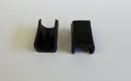 Zelfklemmende sleebuisdop 20-22mm Zwart