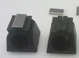 Buisframe klemvoetje 19mm zwart