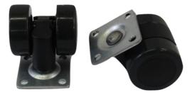 Zwenkwieltjes met aanschroefplaat 36,5x36,5mm