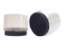 Omsteekdop PVC 16mm met vilt, naturel-transparant/donkerbruin