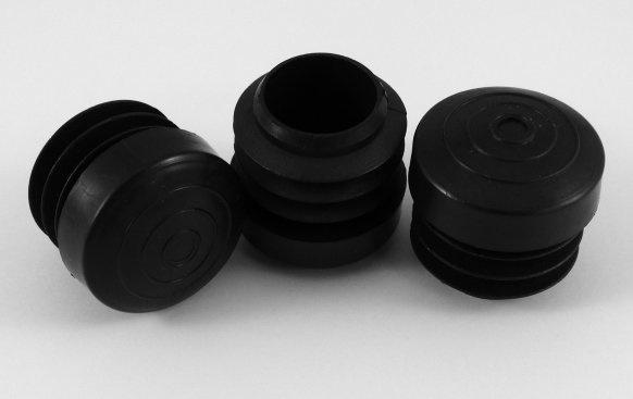 Terras inslagdop, 25mm, zwart