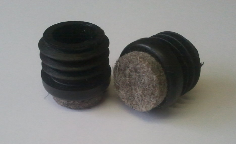 Inslagdop met vilt, rond, 40mm