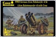 Caesar H093 WWII German 21cm Nebelwerfer 42 & 8,8cm Raketenwerfer 42