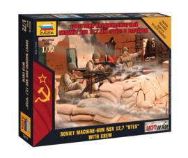 "Zvezda 7411 Soviet Machine Gun NSV 12,7 ""UTES"" with crew"