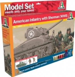 Italeri 73003 American Infantry with Sherman (WWII)