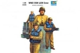 Trumpeter 408 WW2 USN LCM Crew