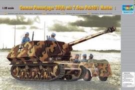 Trumpeter 354 German Panzerjager 39(H) mit 7,5cm Pak40/1