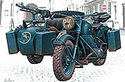 MB 3528 German Motorcycle
