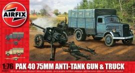 Airfix A02315 Pak 40 75 mm Anti-Tank Gun & Truck