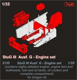 CMK 3135 StuG III Ausf.G Engine set