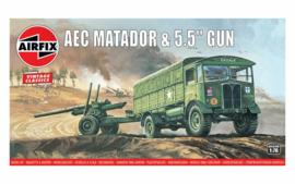 """Airfix A01314V AEC Matador & 5.5 """" Gun"""