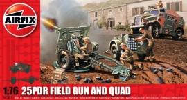 Airfix A01305 25pdr Field Gun and Quad