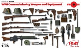 ICM 35671 WW I Austro-Hungarian Inf. Weapon and Equipment