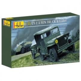Heller 81105 US ¼ ton Truck & Trailer